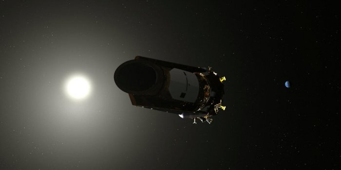 An artist's conception of the Kepler Space telescope is shown in this illustration provided October 30, 2018. (NASA/Handout via REUTERS)