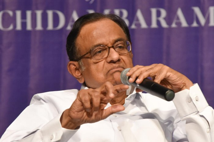 """The Enforcement Directorate (ED) had on Wednesday told the court here that custodial interrogation of former Union minister and Congress leader P Chidambaram was necessary in the Aircel-Maxis money laundering case to unravel the truth as he was """"evasive and non-cooperative"""" in the probe. (DH File Photo)"""