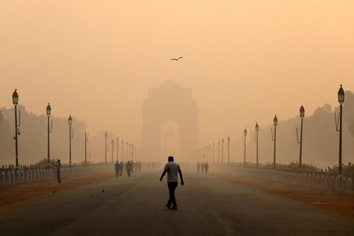 The overall air quality index of Delhi was recorded at 392, which falls in the 'very poor' category and is just eight points from turning severe. (Reuters File Photo)