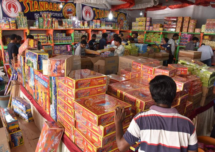 A government release also urged people of the state to burst crackers with low decibel and pollution levels. (DH Photo)