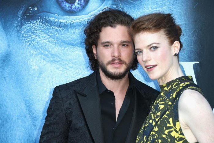 Kit Harington and Rose Leslie. AFP File Photo