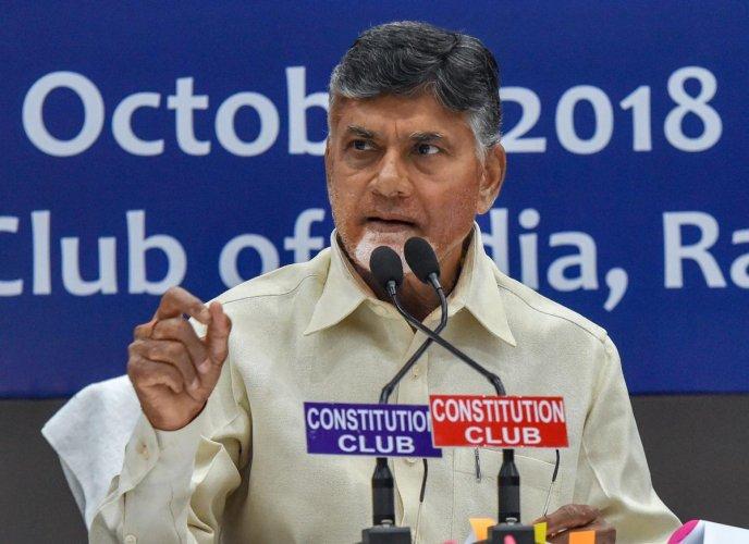 Andhra Pradesh Chief Minister N Chandrababu Naidu. PTI Photo