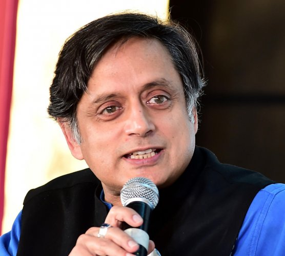 Congress leader Shashi Tharoor. DH File Photo