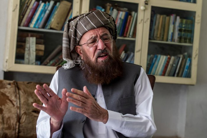 Maulana Sami-ul Haq, a Pakistani cleric and head of Darul Uloom Haqqania, an Islamic seminary and alma mater of several Taliban leaders, talks during an interview with Reuters at his house in Akora Khattak, Khyber Pakhtunkhwa province September 14, 2013.