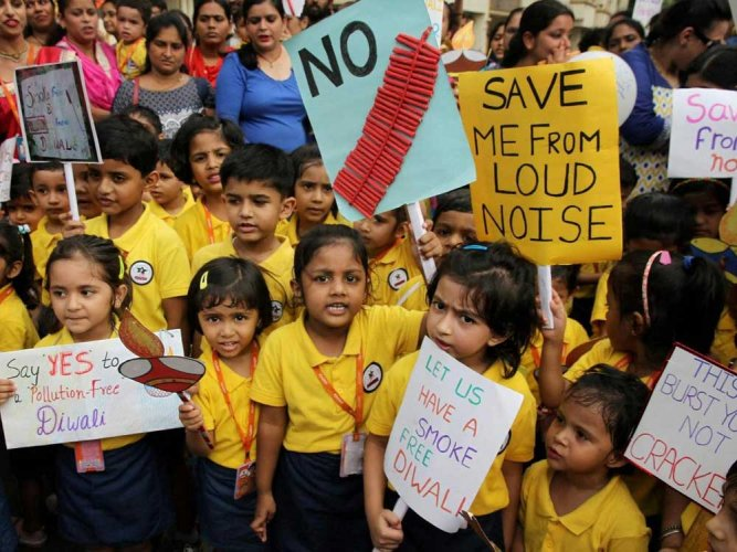 For three years now, Yuktha Somasekhar has shunned fireworks as she understands that they cause only harm. A 10th standard student from Army Public school-ASC, she said that she loves animals and that is one of the reasons she has quit bursting crackers. PTI file photo