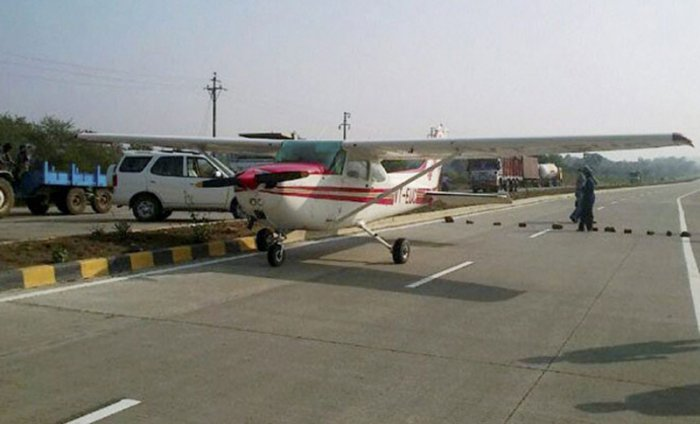 File photo of a Cessna aircraft. A plane similar to this was was involved in a mid-air collision over Ottawa, Canada. (PTI)
