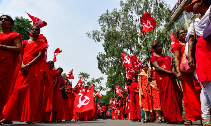 Opposing the move, the CPI(M) demanded the reinstatement of May Day in the list of the 'regular holidays'. (DH File Photo for representation)
