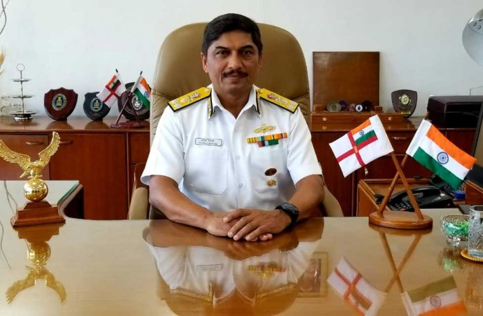 Vice Admiral Sandeep Naithani took over as the Director General Naval Projects, Mumbai, on Tuesday.  DH photo