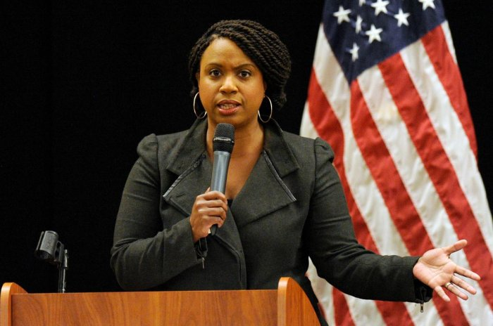 Massachusetts Democratic congressional candidate Ayanna Pressley. AFP photo