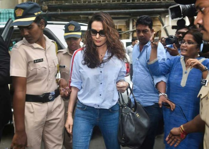 Bollywood actor Preity Zinta arrives for a hearing on the 2014 molestation case against Ness Wadia, at Bombay High Court in Mumbai. PTI Photo