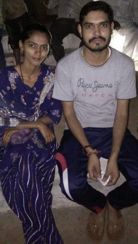 The victim Renuka, with her husband Shankrappa Naik.