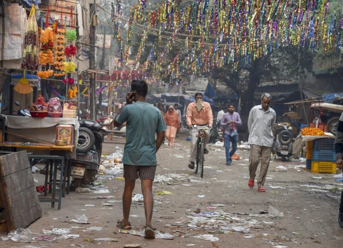 Police also seized 2,776 kgs of firecrackers from various parts of the city on Diwali. A total of 87 people were arrested and 72 cases registered in connection with illegal sale of crackers, they added. PTI Photo