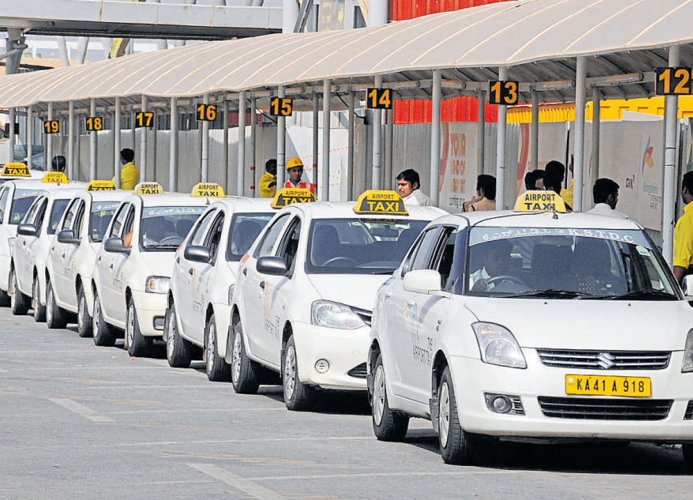 Getting a cab in Bengaluru has become difficult with many commuters complaining of increased waiting periods. DH file photo for representation