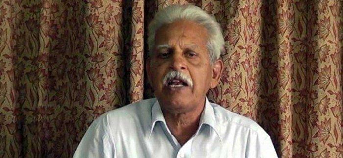 Revolutionary writer Varavara Rao file photo