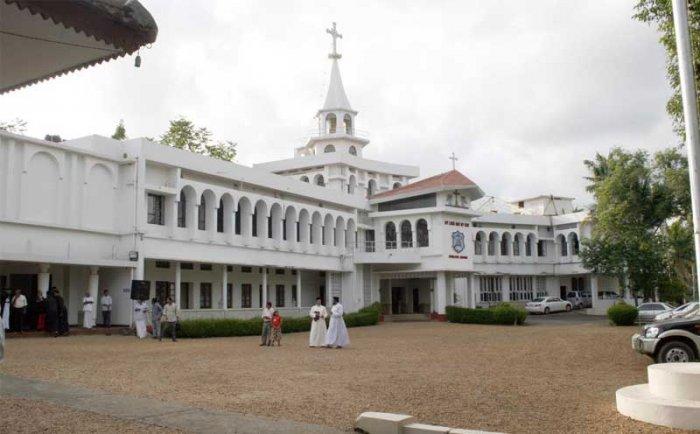 The Malankara Orthodox Syrian Church headquarters in Kottayam.