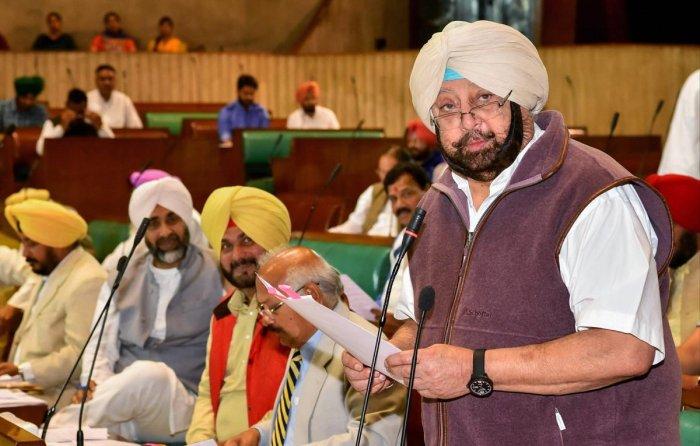 Punjab Chief Minister Captain Amarinder Singh. PTI File Photo