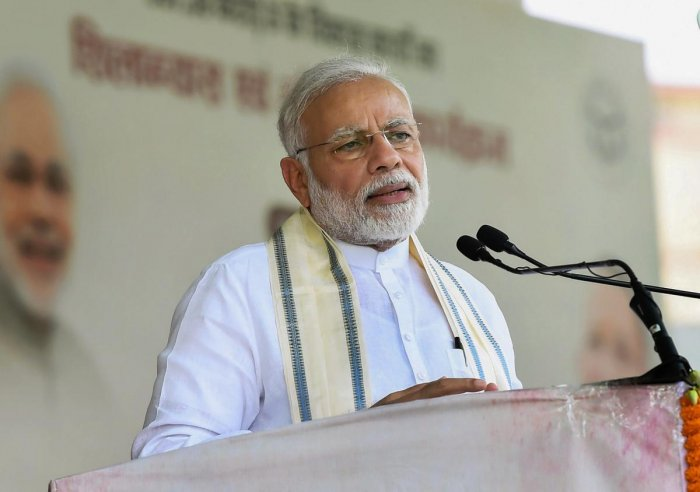 Prime Minister Narendra Modi on Friday accused the Congress of backing the urban Maoists who he said have ruined the lives of poor Adivasi youth.