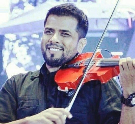 The two-year-old daughter of noted violinist and music composer Balabhaskar was killed in a road accident in the early hours of Tuesday