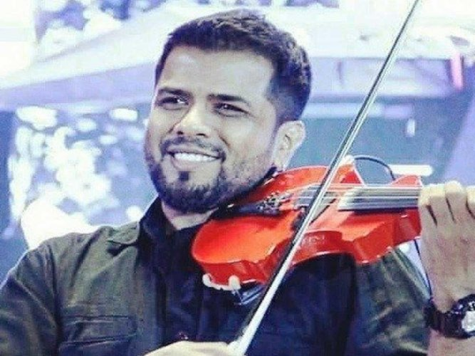 Noted music composer and violinist Balabhaskar. DH file photo