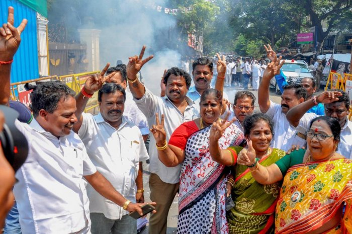 People celebrate after the Madras High Court order. PTI/FILE