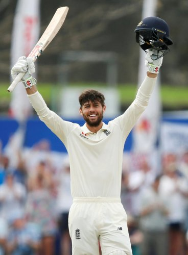 INSTANT IMPACT England's Ben Foakes celebrates after scoring a century against Sri Lanka on Wednesday. REUTERS