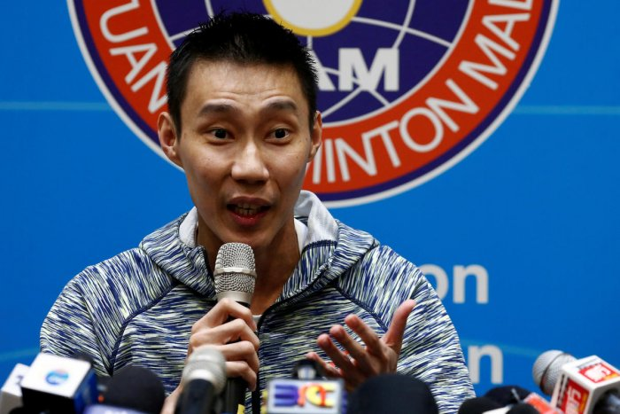Malaysia's badminton player Lee Chong Wei speaks during a news conference in Kuala Lumpur on Wednesday. REUTERS