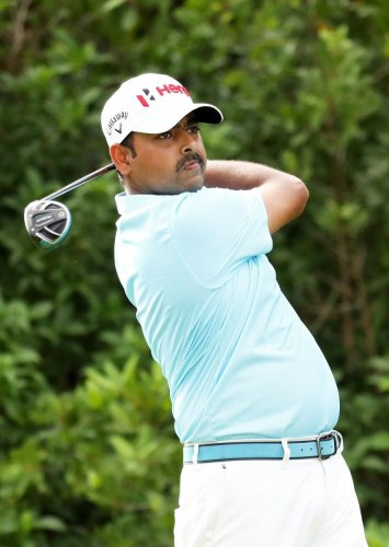 ON SONG Anirban Lahiri of India in action during the first round of the Mayakoba Golf Classic on Thursday. AFP