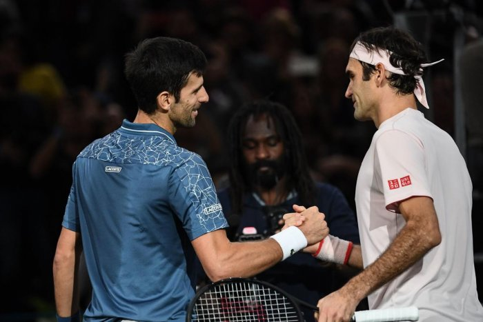 CLASH OF TITANS Novak Djokovic (left) and Roger Federer will be vying to end the season on a high. AFP