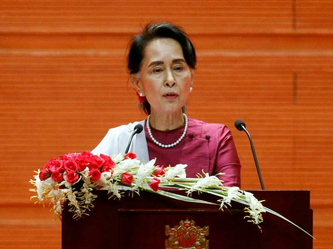 The London-based global human rights organisation said it was revoking the Ambassador of Conscience Award it gave Suu Kyi in 2009 while she was still under house arrest. (Reuters file photo)