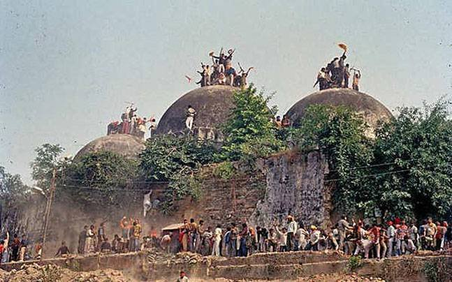 The issue of the Ram Mandir versus the Babri Masjid in Ayodhya is a politico-religious dispute that seems far from reaching a resolution. DH Archive Photo