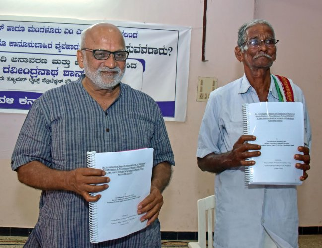 Dr Ravindranath Shanbhog releases the report.