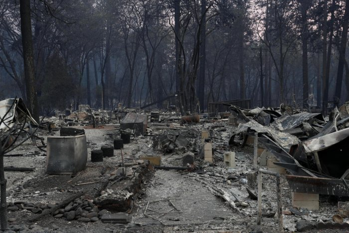 A view of homes destroyed by the Camp Fire is seen in Paradise, California. Reuters