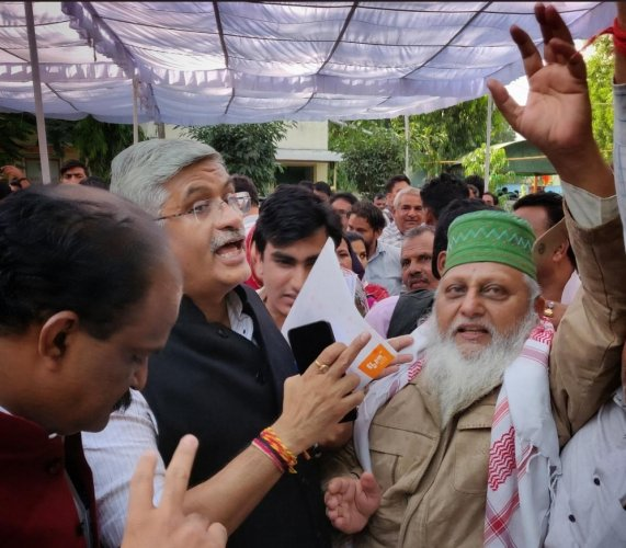 The protesters met BJP's Rajasthan election management committee convenor Gajendra Singh Shekhawat at party office.