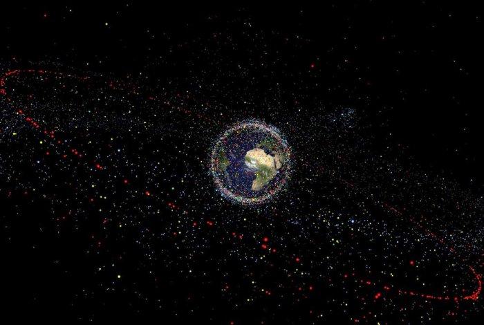 Space debris. ESA/twitter