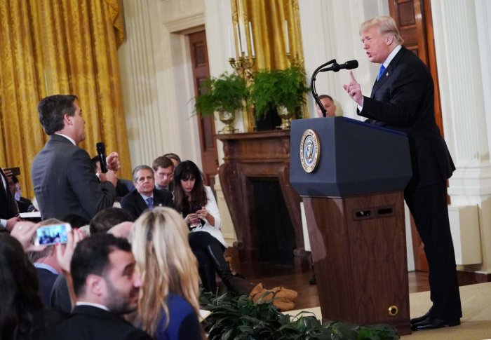 "The White House dismissed CNN's complaint as ""grandstanding"" and vowed to ""vigorously defend"" against the lawsuit. AFP Photo"