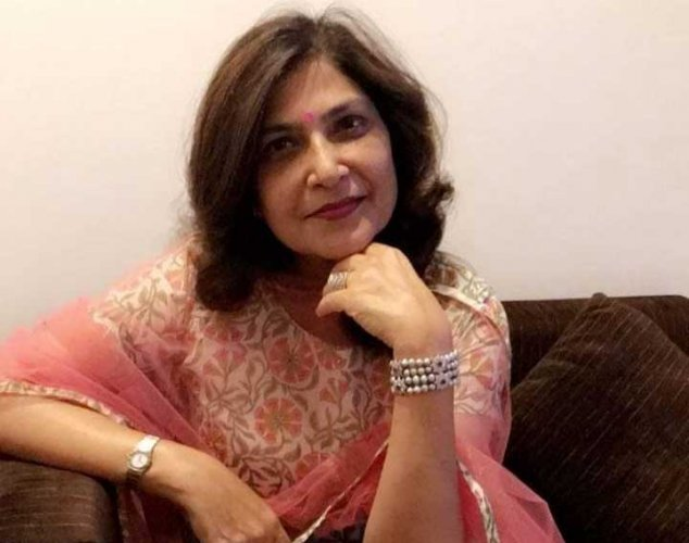 The deceased has been identified as Mala Lakhani (above) and her domestic help Bahadur Singh (52), a senior police officer said. (Image source: Twitter)