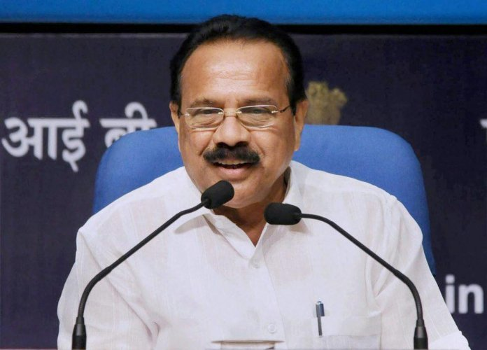 Union Minister of Statistics & Programme Implementation D. V. Sadananda Gowda. DH file photo