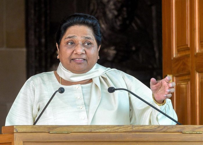 Congress leaders feel a tie-up with Mayawati could help the party in the upcoming Assembly polls. PTI file photo