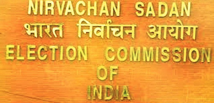 A view of the Election Commission's office in New Delhi.