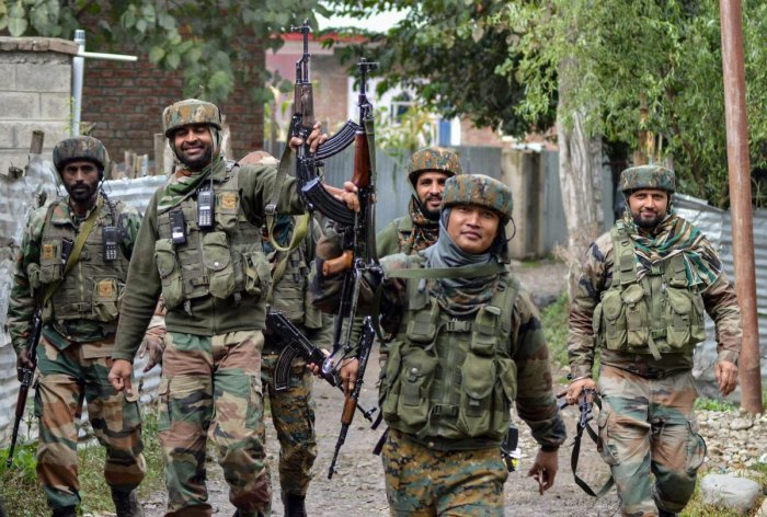 Two unidentified militants were killed in an encounter with security forces in Sopore area of Baramulla district, Kashmir.