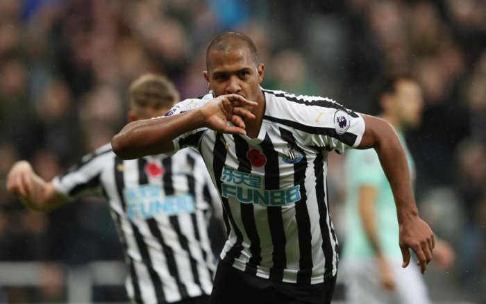 Newcastle United's Salomon Rondon celebrates after scoring against AFC Bournemouth on Saturday. REUTERS