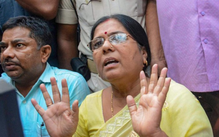 Manju, who was suspended from the JD (U) on Thursday for causing huge embarrassment to Nitish. (PTI File Photo)