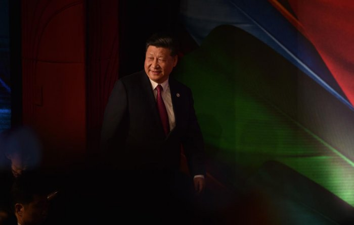 Chinese President Xi Jinping arrives to make his keynote speech for the CEO Summit of the Asia-Pacific Economic Cooperation (APEC) summit in Port Moresby. AFP