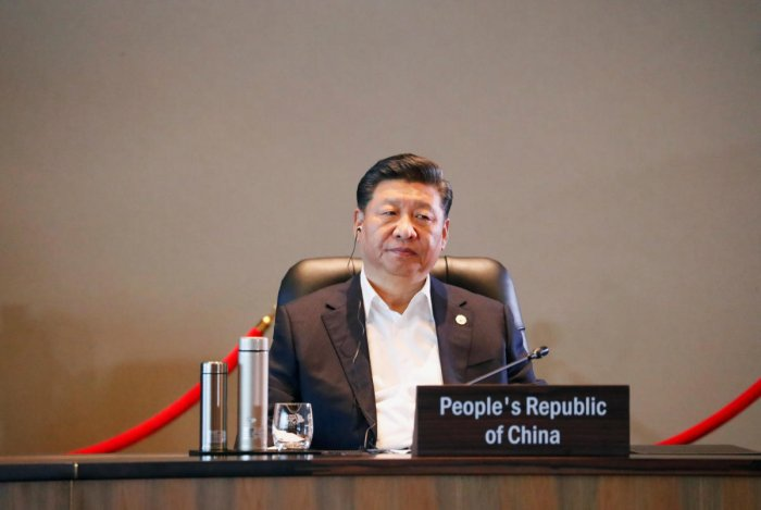 Xi Jinping attends the retreat session during the APEC Summit in Port Moresby, Papua New Guinea. Reuters