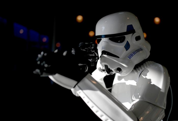 A cosplayer costumed as a 'Stormtrooper' character from the 'Star Wars' movie poses during the Vienna Comic Con in Vienna, Austria. Reuters photo.