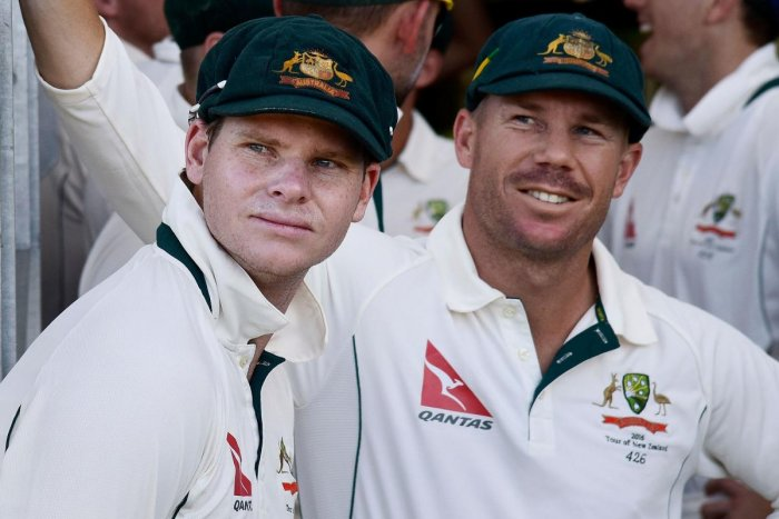 The one-year ban on Steve Smith (left) and David Warner could be lifted this week. AFP File Photo