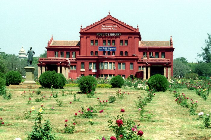 The State Central Library housed in Sheshadri Iyer Memorial Hall at Cubbon Park, established in 1915. DH/PV archive photo