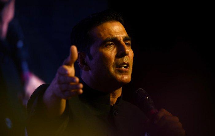 Bollywood actor Akshay Kumar. AFP File photo