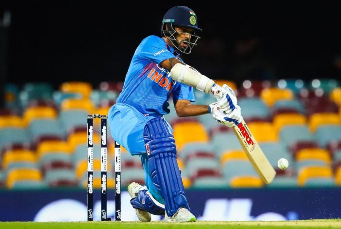 Shikhar Dhawan feels poor fielding cost India the game against AustraliaonWednesday. AFP