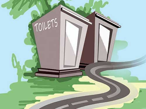 The target set under the mission was 5.07 lakh public toilet seats. said Union Ministry of Urban Affairs and Housing Secretary Durga Shanker Mishra.DH file photo